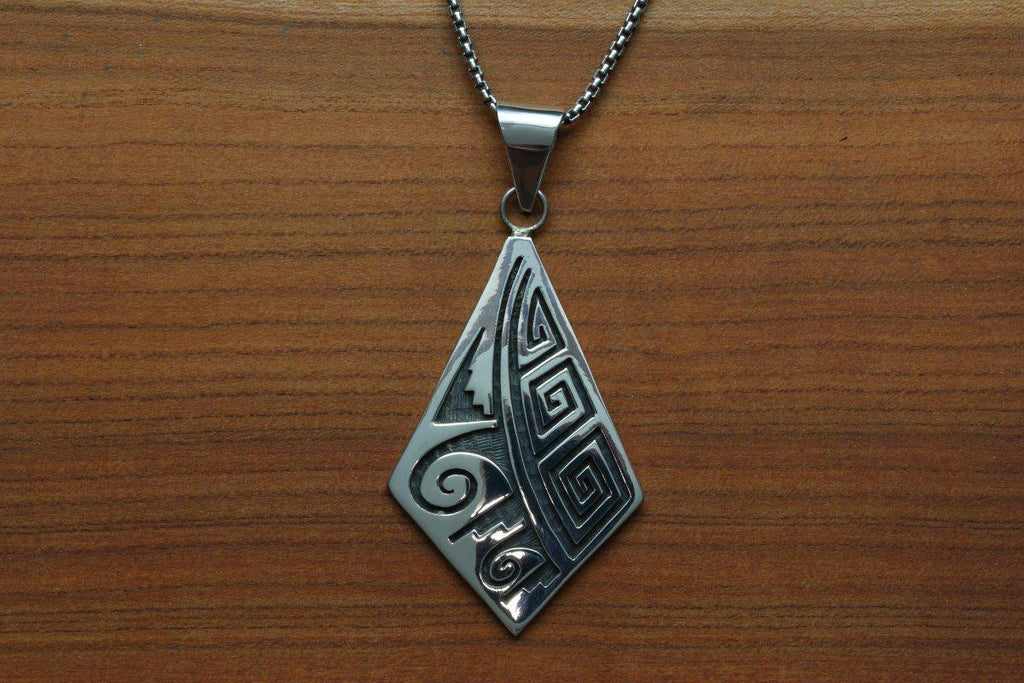 Hopi Diamond Shaped Weather Pendant-Lema's Kokopelli Gallery