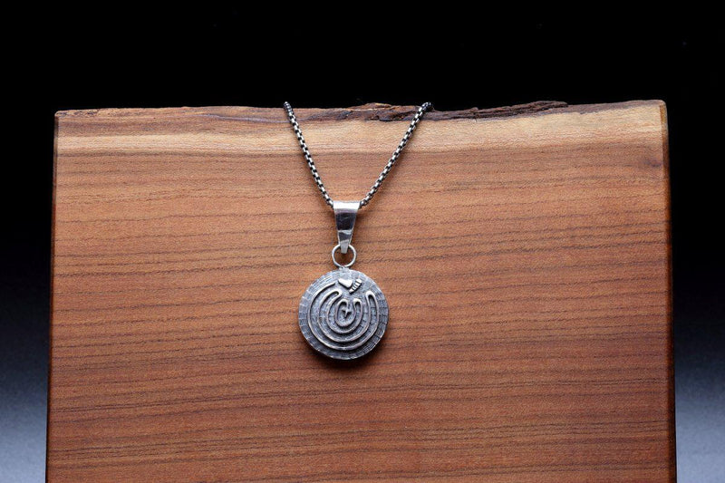 Hopi Double Sided Maze Pendant-Lema's Kokopelli Gallery