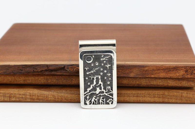 Hopi Hiker Night Sky Money Clip-Lema's Kokopelli Gallery