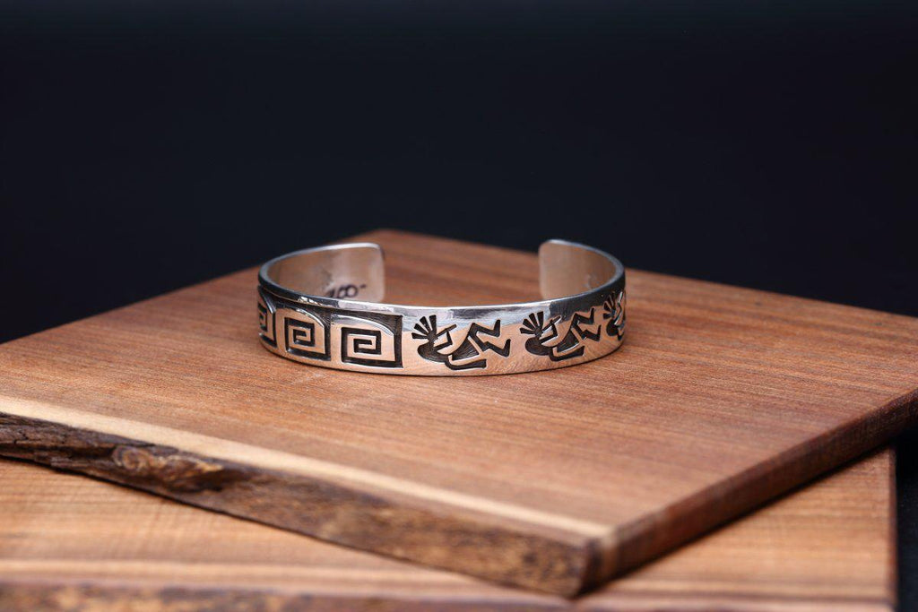 Hopi Kokopelli and Whirling Wind Bracelet-Lema's Kokopelli Gallery
