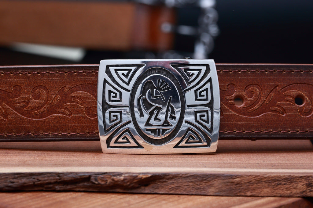 Hopi Kokopelli and Wind Belt Buckle-Lema's Kokopelli Gallery