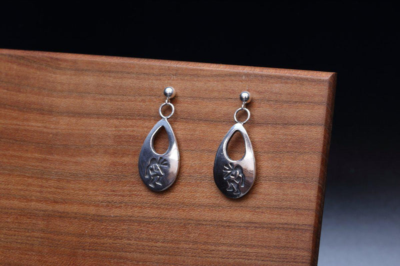 Hopi Kokopelli Earrings-Lema's Kokopelli Gallery