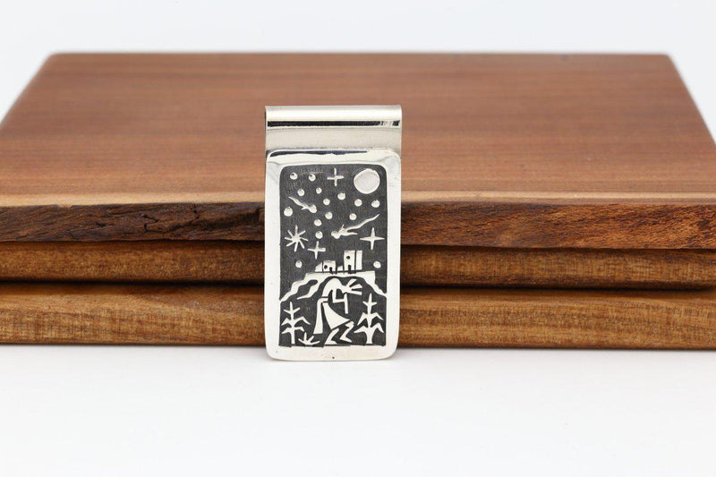 Hopi Kokopelli Night Sky Money Clip-Lema's Kokopelli Gallery