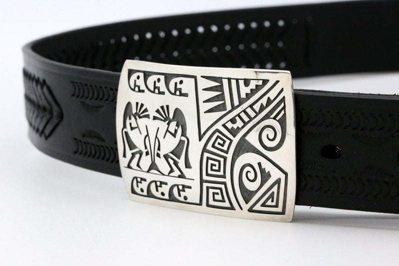 Hopi Kokopelli Prayer Stick Belt Buckle-Lema's Kokopelli Gallery