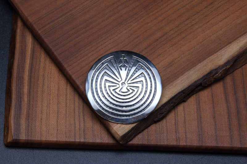Hopi Man in the Maze Brooch-Lema's Kokopelli Gallery