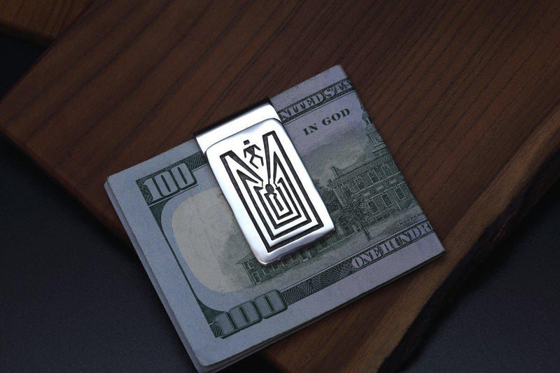 Hopi Man in the Maze Money Clip-Lema's Kokopelli Gallery