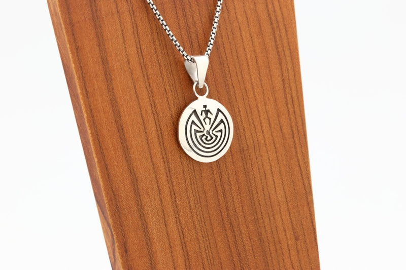 Hopi Man in the Maze Pendant-Lema's Kokopelli Gallery