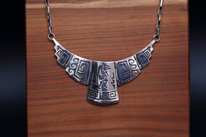 Hopi Necklace with Kokopelli's-Lema's Kokopelli Gallery