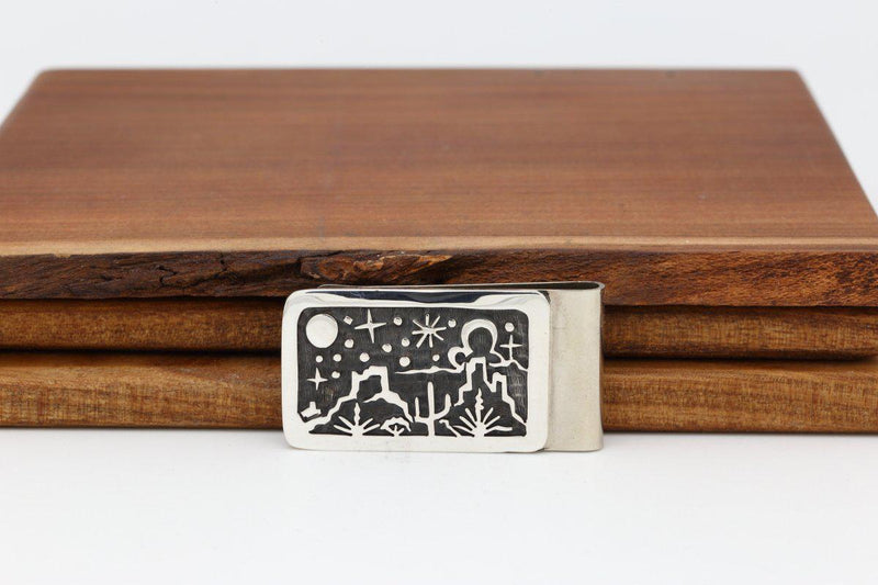 Hopi Night Sky Money Clip-Lema's Kokopelli Gallery
