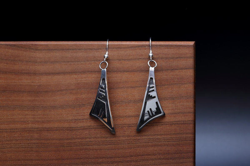 Hopi Rain Cloud Symbol Earrings-Lema's Kokopelli Gallery