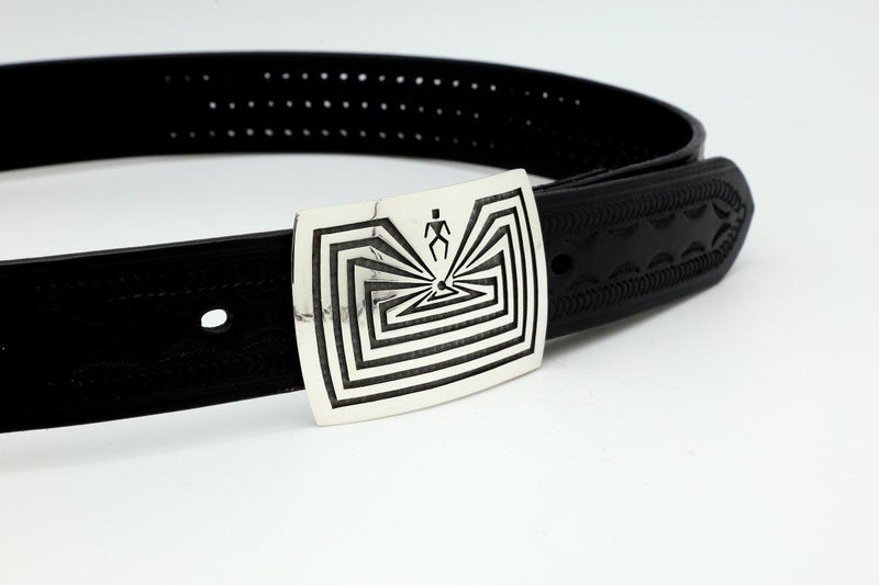 Hopi Small Man in the Maze Belt Buckle-Lema's Kokopelli Gallery