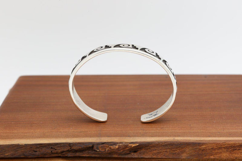 Hopi Water Wave and Rain Cloud Bracelet-Lema's Kokopelli Gallery