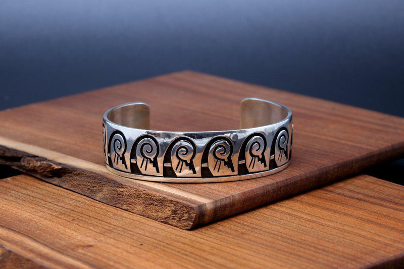 Hopi Water Waves and Rain Bracelet-Lema's Kokopelli Gallery