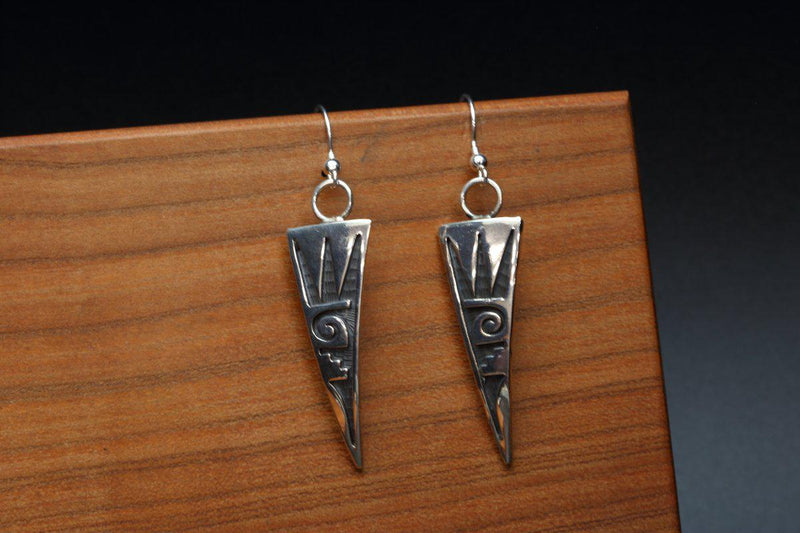 Hopi Water Waves Earrings-Lema's Kokopelli Gallery