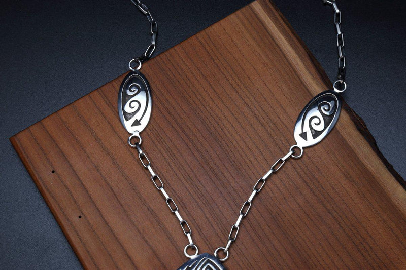 Hopi Weather Design Necklace-Lema's Kokopelli Gallery