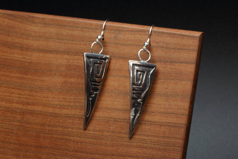 Hopi Whirling Wind Earrings-Lema's Kokopelli Gallery