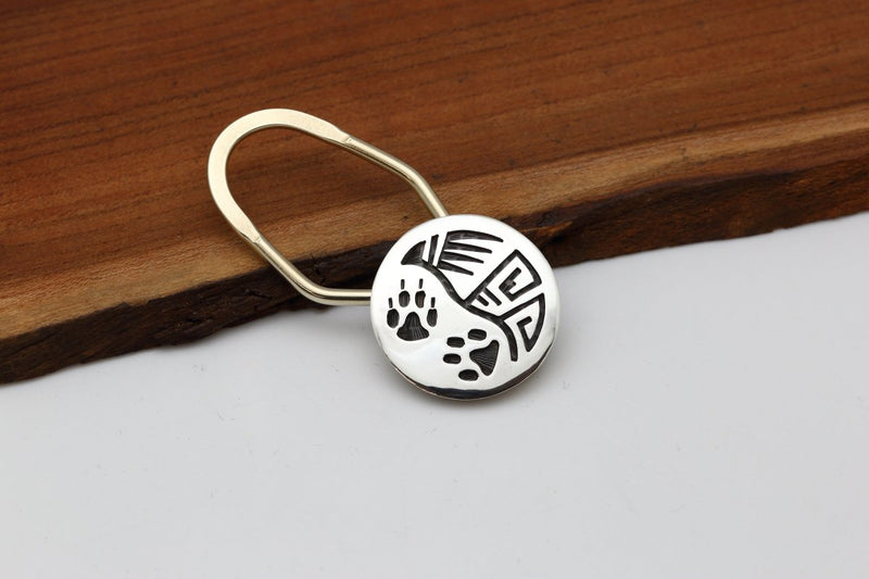 Hopi Wolf Paw Key Ring-Lema's Kokopelli Gallery