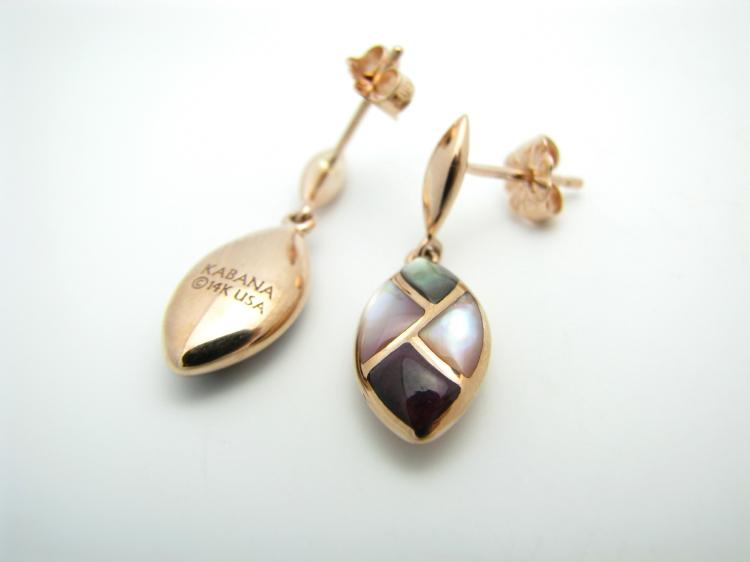Kabana 14KT Rose Gold Riviera Dusk Dangle Earrings-Lema's Kokopelli Gallery