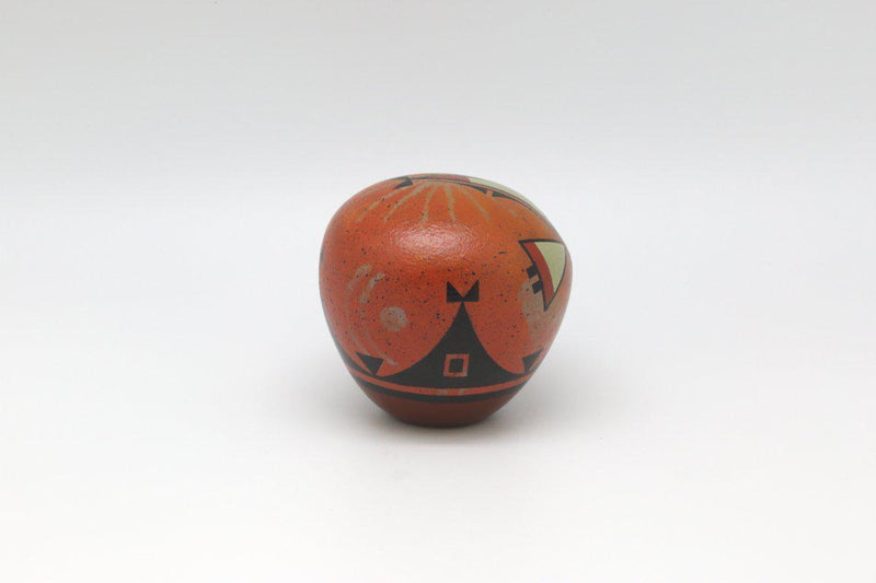 Laguna Orange Seed Pot-Lema's Kokopelli Gallery