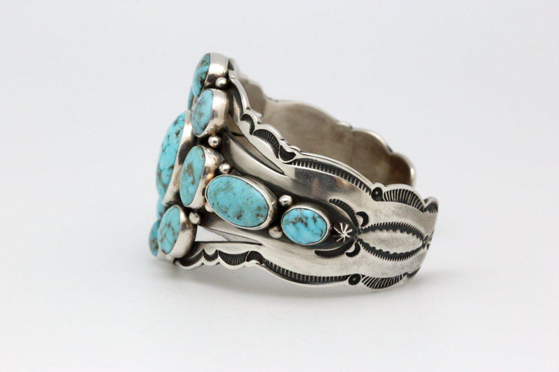 Navajo Bracelet with Dry Creek Turquoise-Lema's Kokopelli Gallery