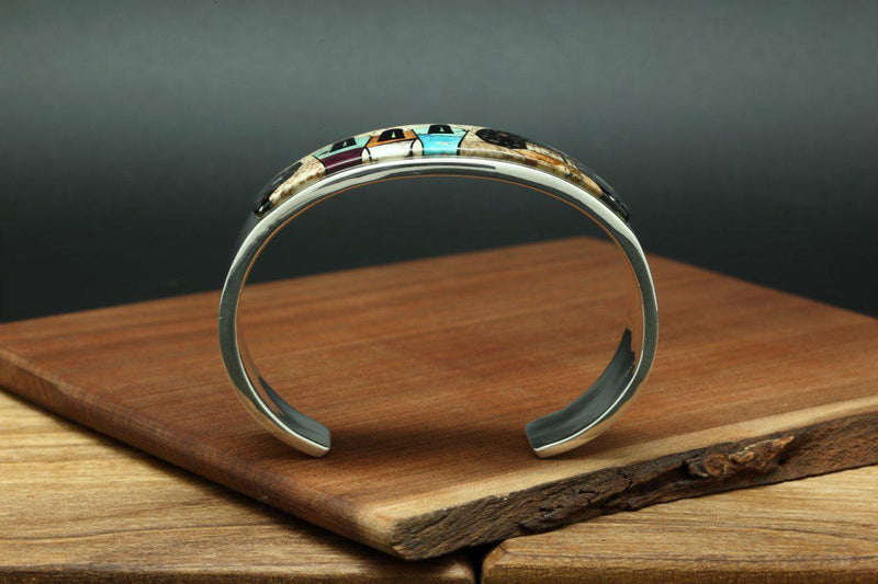 Navajo Inlay Pictorial Night Sky Bracelet-Lema's Kokopelli Gallery