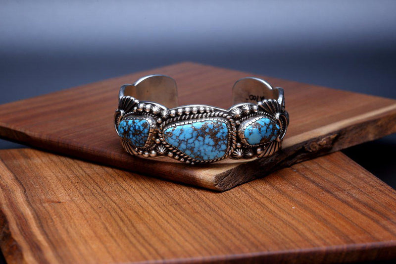 Navajo Red Mountain Turquoise Bracelet-Lema's Kokopelli Gallery