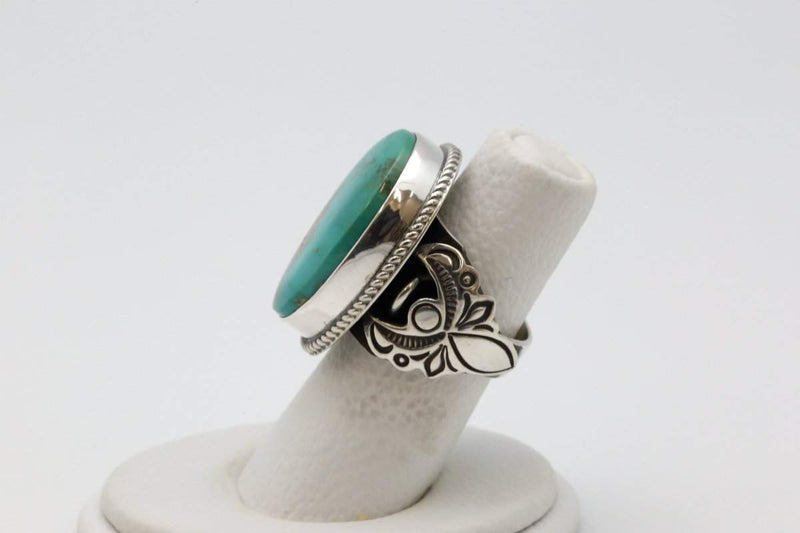 Navajo Ring with Royston Turquoise-Lema's Kokopelli Gallery