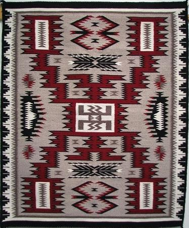 Navajo Storm Pattern Rug by Marilyn Jim-Lema's Kokopelli Gallery