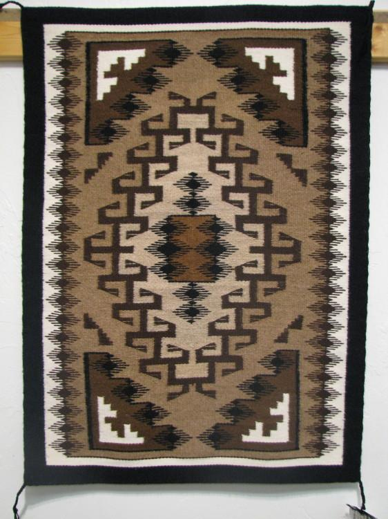 Navajo Two Grey Hills Rug by Betty Charley-Lema's Kokopelli Gallery