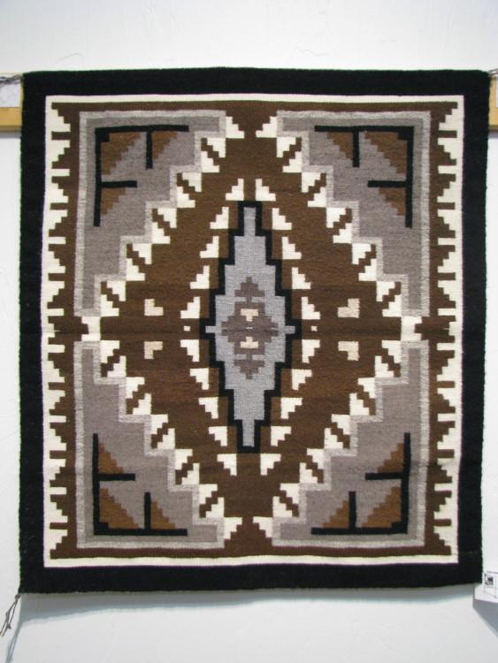 Navajo Two Grey Hills Rug by Marie Nathaniel-Lema's Kokopelli Gallery