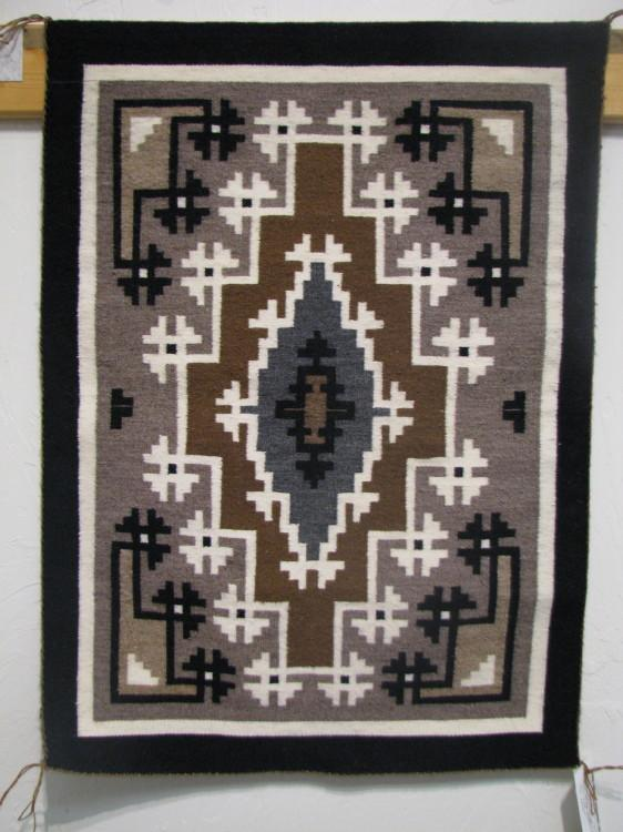 Navajo Two Grey Hills Rug by Mark Nathaniel-Lema's Kokopelli Gallery