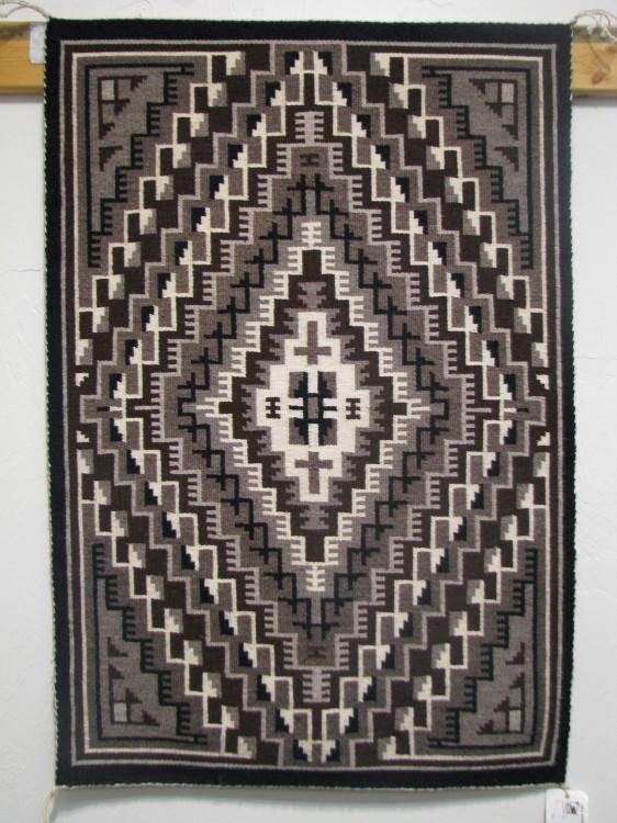 Navajo Two Grey Hills Rug by Risa White-Lema's Kokopelli Gallery