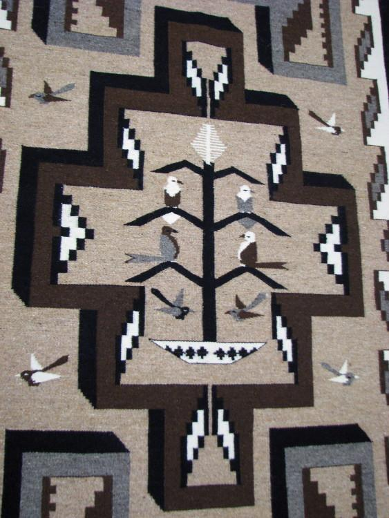 Navajo Two Grey Hills/Tree of Life Rug by Victoria Dixon-Lema's Kokopelli Gallery