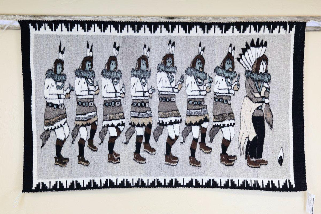 Navajo Yei-Be-Che Rug by Shirley Comb-Lema's Kokopelli Gallery