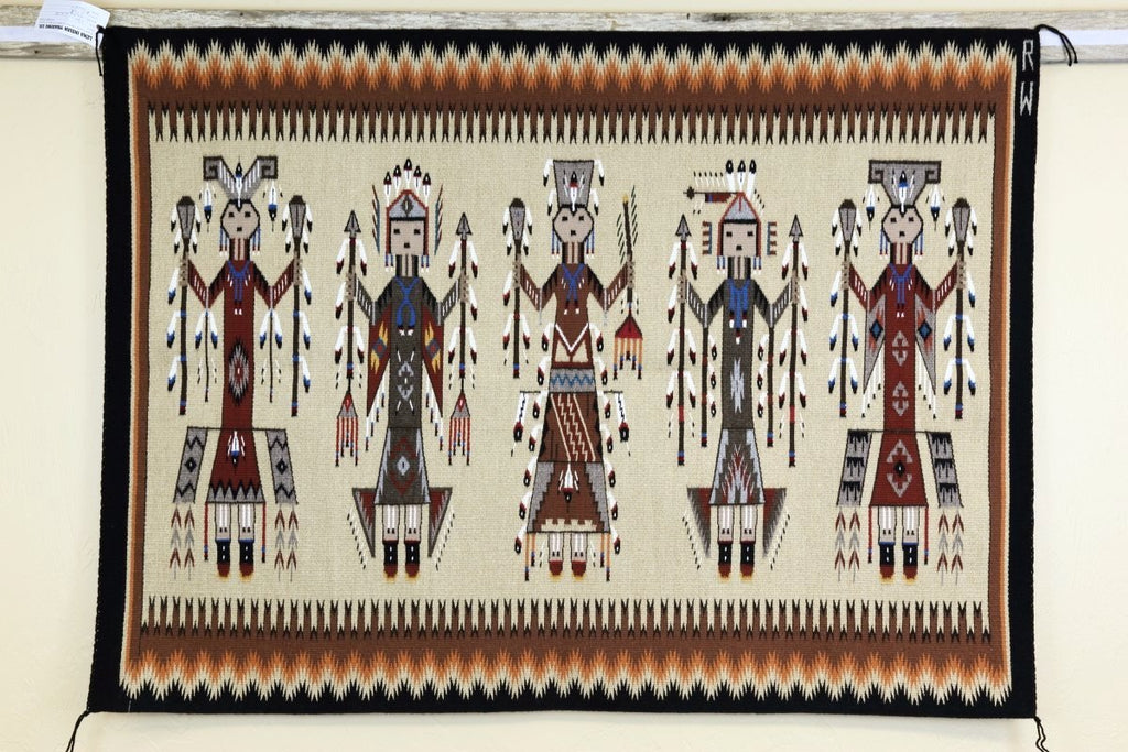 Navajo Yei Rug by Ruby White-Lema's Kokopelli Gallery