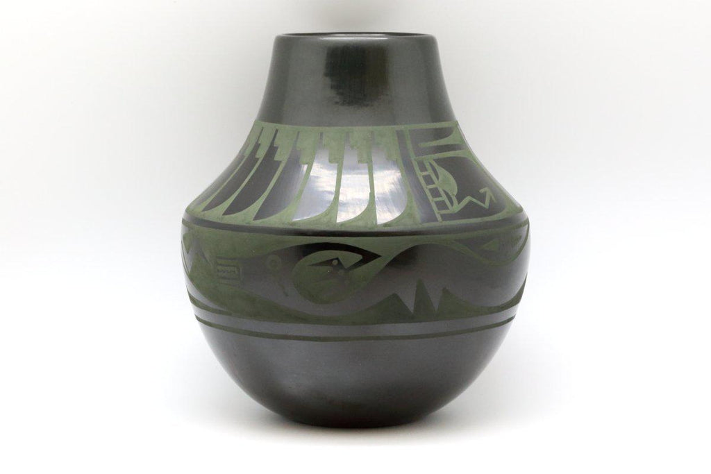 San Ildefonso Water Serpent Pot-Lema's Kokopelli Gallery