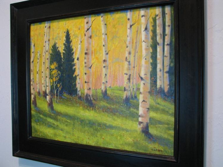 September Aspens Southwest Oil Painting on Canvas-Lema's Kokopelli Gallery
