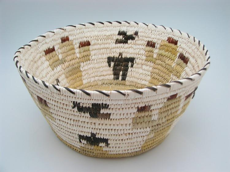 Tohono O'Odham (Papago) Cactus Indian Basket by Julia Lewis-Lema's Kokopelli Gallery