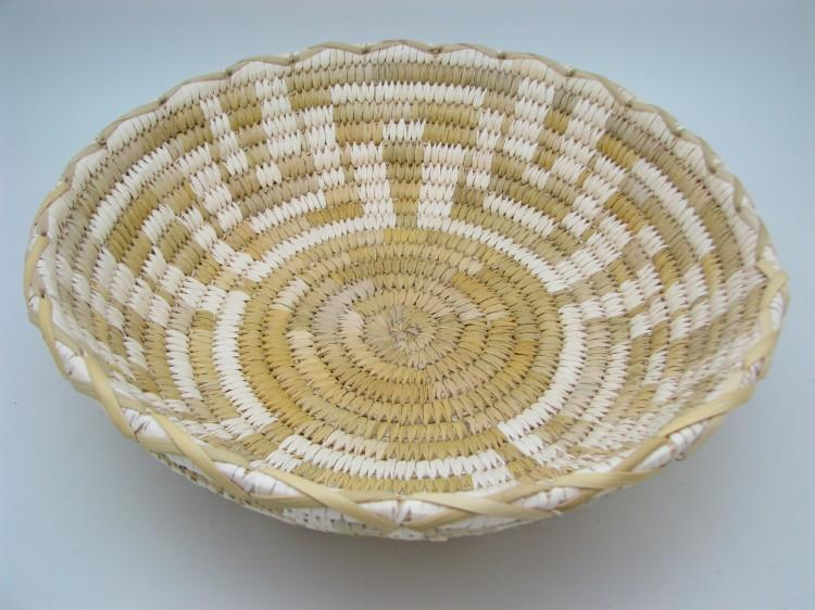 Tohono O'Odham (Papago) Five Petal Squash Blossom Indian Basket-Lema's Kokopelli Gallery