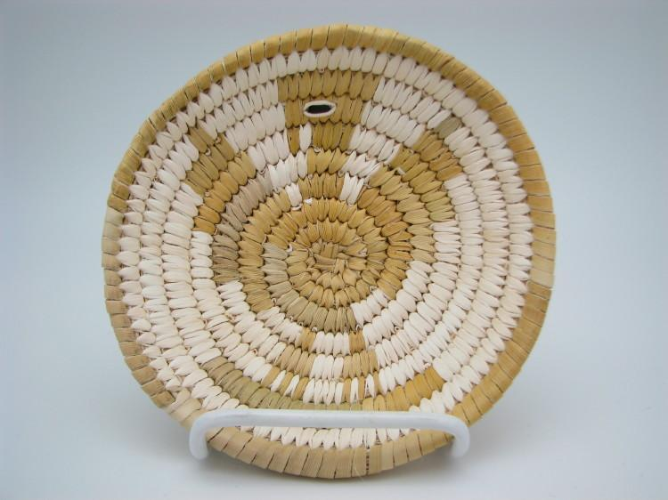 Tohono O'Odham (Papago) Indian Basket with Eagle Design-Lema's Kokopelli Gallery