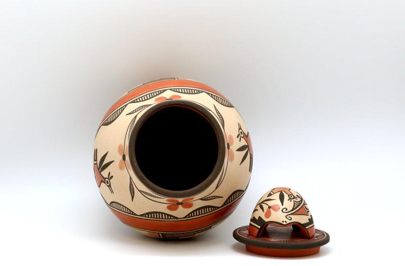 Zia Bird with Turtle Lid Pot-Lema's Kokopelli Gallery