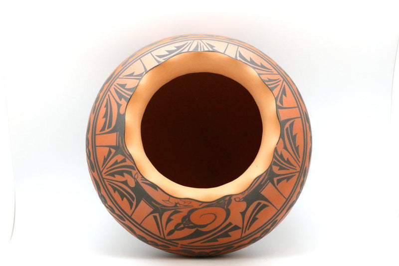 Zuni Red Deer Pot-Lema's Kokopelli Gallery