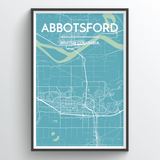 Affordable wholesale art prints of Abbotsford - City Map Art Print