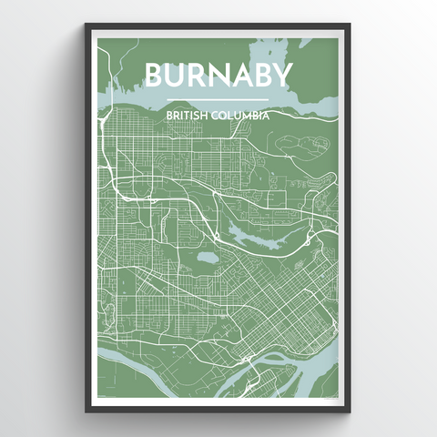 Affordable wholesale art prints of Burnaby - City Map Art Print