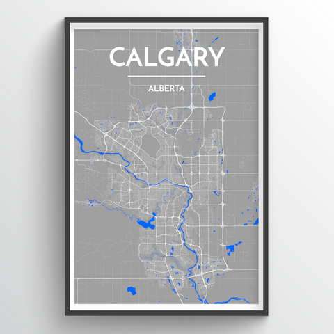 Affordable wholesale art prints of Calgary - City Map Art Print
