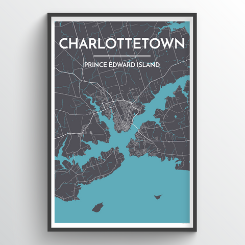 Affordable wholesale art prints of Charlottetown - City Map Art Print