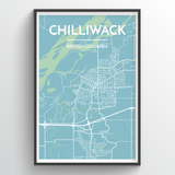 Affordable wholesale art prints of Chilliwack - City Map Art Print