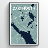 Affordable wholesale art prints of Dartmouth - City Map Art Print