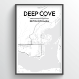 Deep Cove Map Art