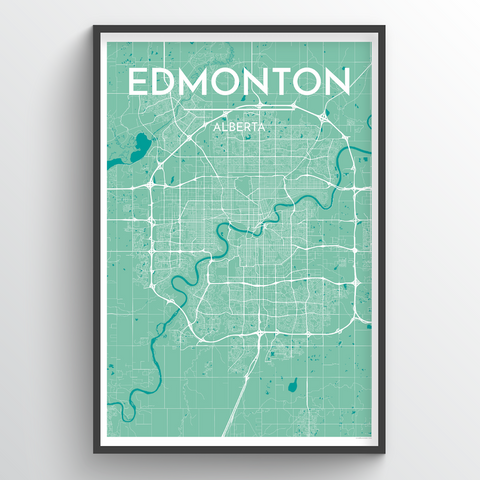 Affordable wholesale art prints of Edmonton - City Map Art Print